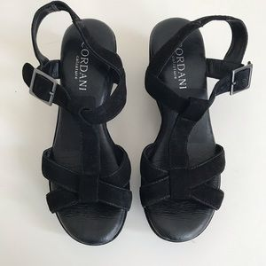 NWOT Cordani suede strappy wedges